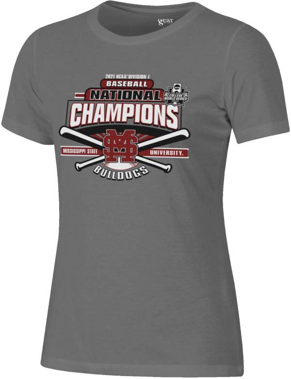 Gear For Sports Women's Mississippi State Bulldogs 2021 Division 1 Baseball National Champions Locker Room T-Shirt product image