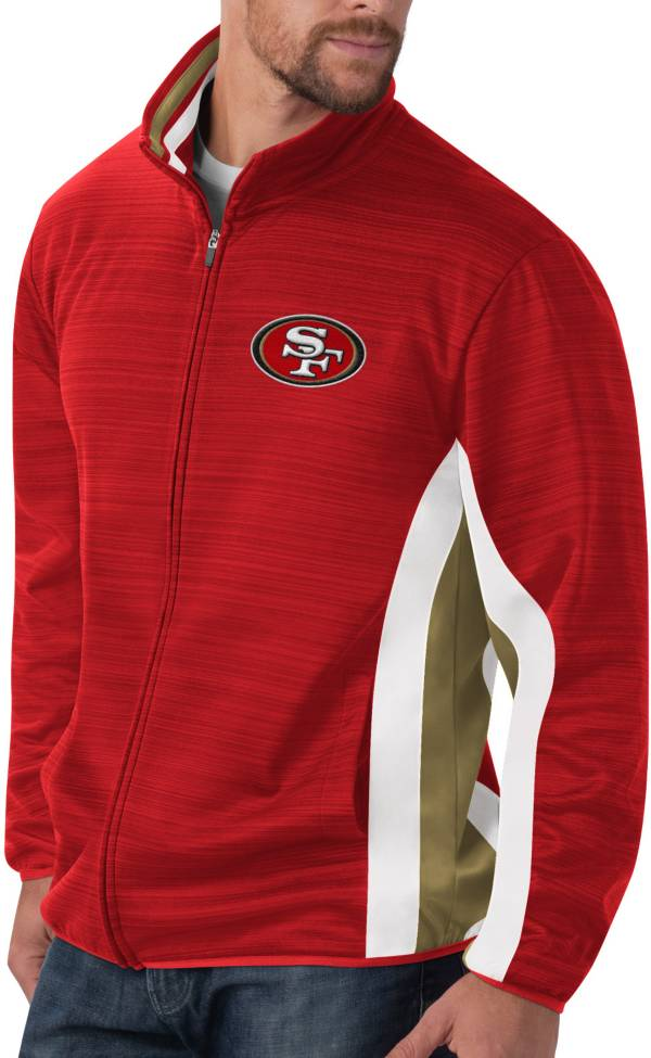 G-III Men's San Francisco 49ers Power Forward Red Track Jacket product image
