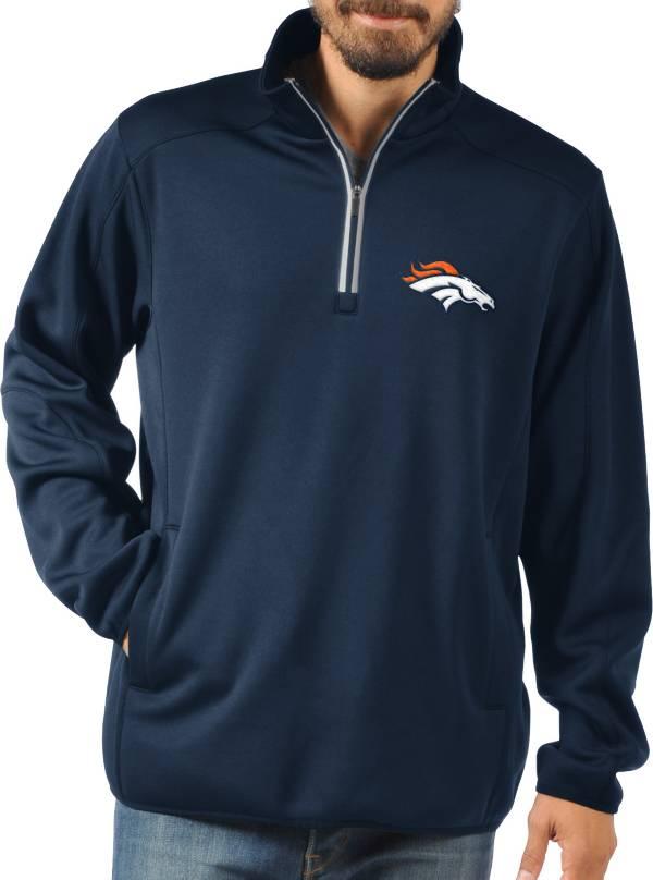 G-III Men's Denver Broncos 1st Down Quarter-Zip Navy Pullover Shirt product image