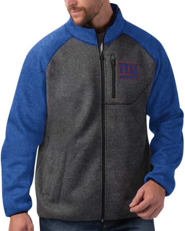 G-III Men's New York Giants Switchback Full-Zip Charcoal Jacket product image