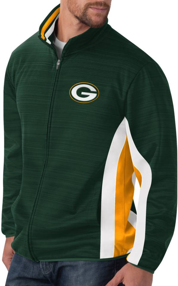 G-III Men's Green Bay Packers Power Forward Green Track Jacket product image
