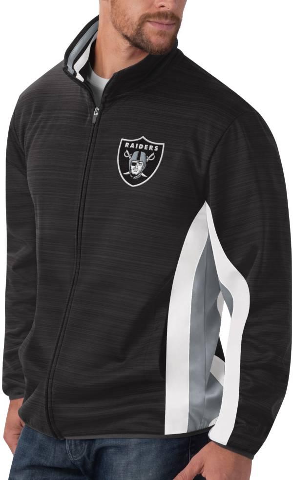 G-III Men's Las Vegas Raiders Power Forward Black Track Jacket product image