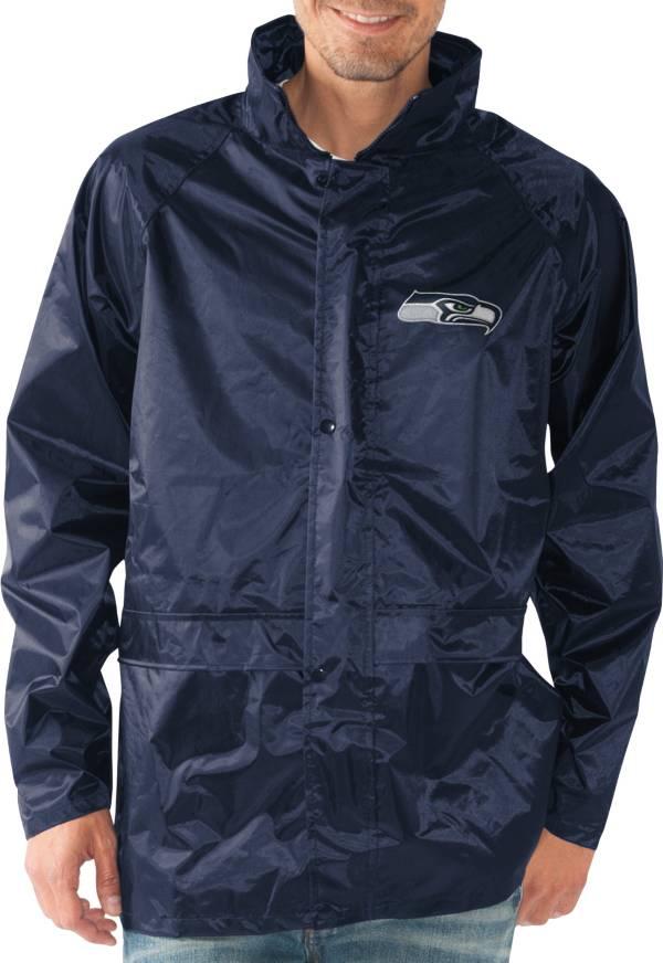 G-III Men's Seattle Seahawks Full-Zip Hard Rain Navy Jacket product image
