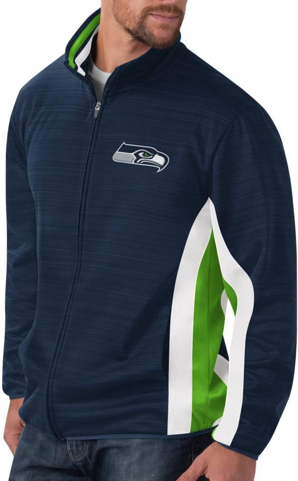 G-III Men's Seattle Seahawks Switchback Full-Zip Charcoal Jacket product image