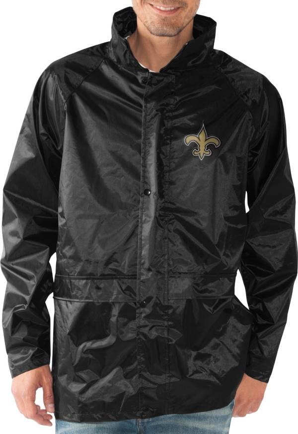 G-III Men's New Orleans Saints Full-Zip Hard Rain Black Jacket product image