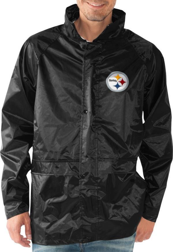 G-III Men's Pittsburgh Steelers Full-Zip Hard Rain Black Jacket product image