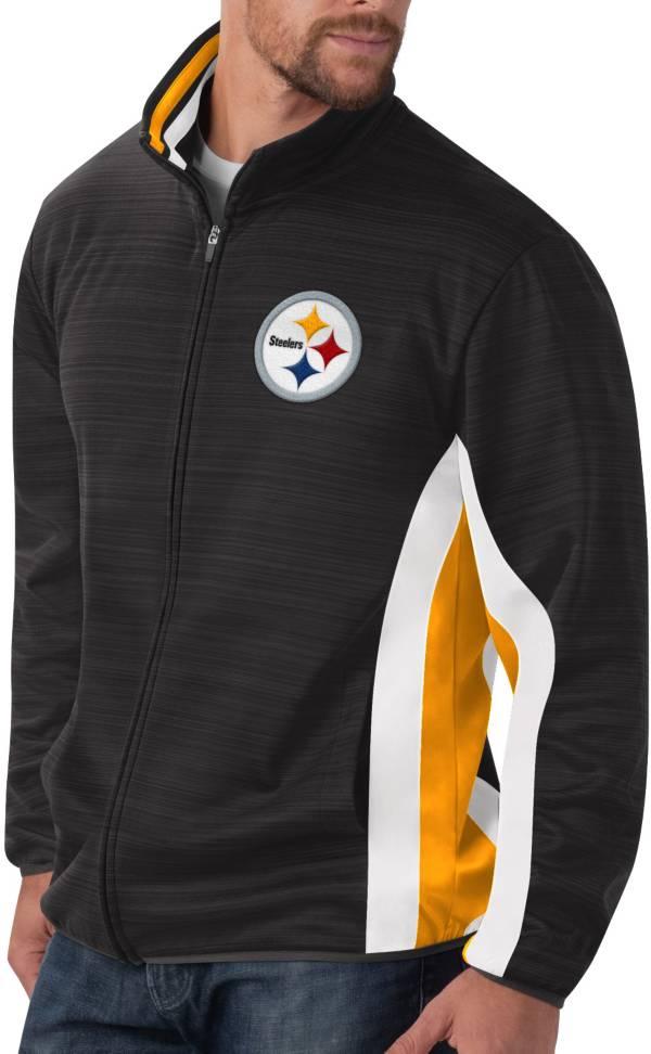 G-III Men's Pittsburgh Steelers Power Forward Black Track Jacket product image