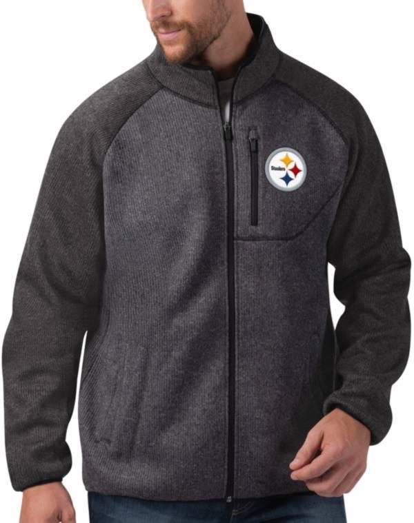 G-III Men's Pittsburgh Steelers Switchback Full-Zip Charcoal Jacket product image
