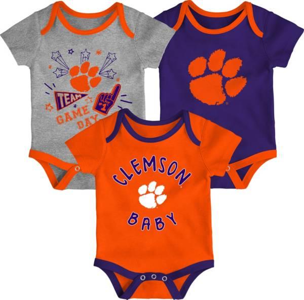 Gen2 Infant Clemson Tigers Orange Champ 3-Piece Creeper Set product image