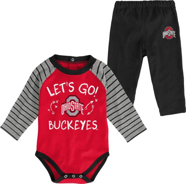 Gen2 Toddler Ohio State Buckeyes Scarlet Touchdown 2-Piece Creeper Set product image