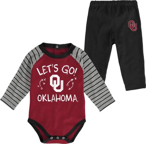 Gen2 Toddler Oklahoma Sooners Crimson Touchdown 2-Piece Creeper Set product image