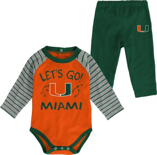 Gen2 Toddler Miami Hurricanes Green Touchdown 2-Piece Creeper Set product image
