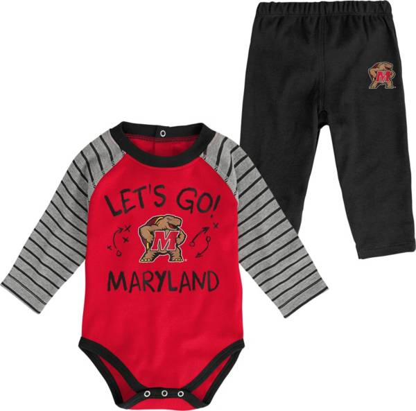 Gen2 Toddler Maryland Terrapins Red Touchdown 2-Piece Creeper Set product image