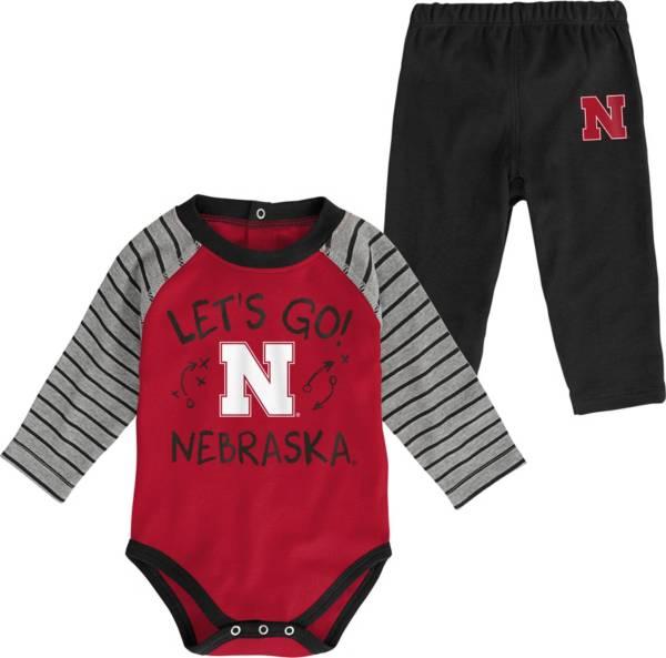 Gen2 Toddler Nebraska Cornhuskers Scarlet Touchdown 2-Piece Creeper Set product image