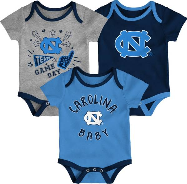 Gen2 Infant North Carolina Tar Heels Carolina Blue Champ 3-Piece Creeper Set product image