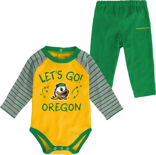 Gen2 Toddler Oregon Ducks Green Touchdown 2-Piece Creeper Set product image