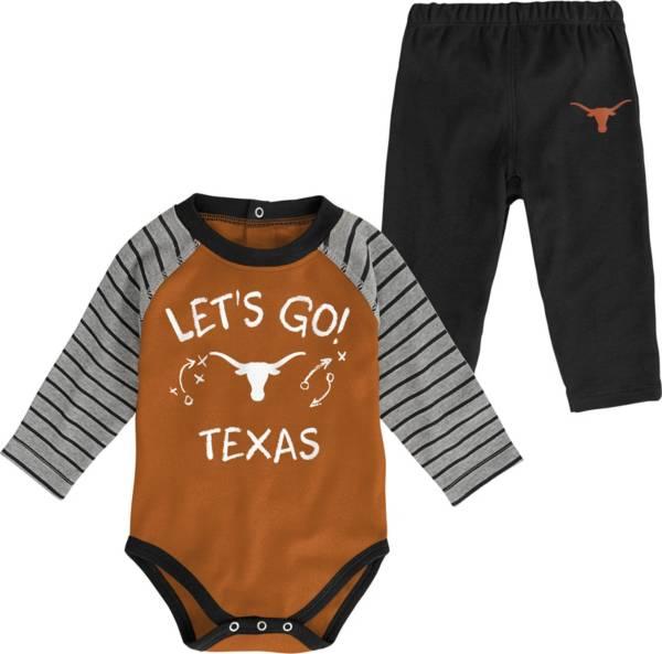 Gen2 Toddler Texas Longhorns Burnt Orange Touchdown 2-Piece Creeper Set product image