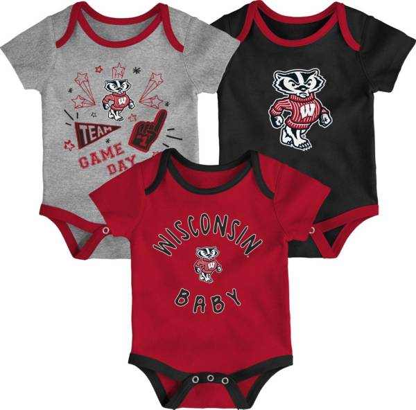 Gen2 Infant Wisconsin Badgers Red Champ 3-Piece Creeper Set product image