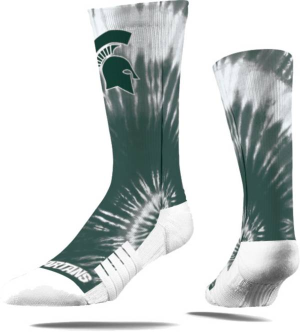 Strideline Michigan State Spartans Tie Dye Crew Socks product image