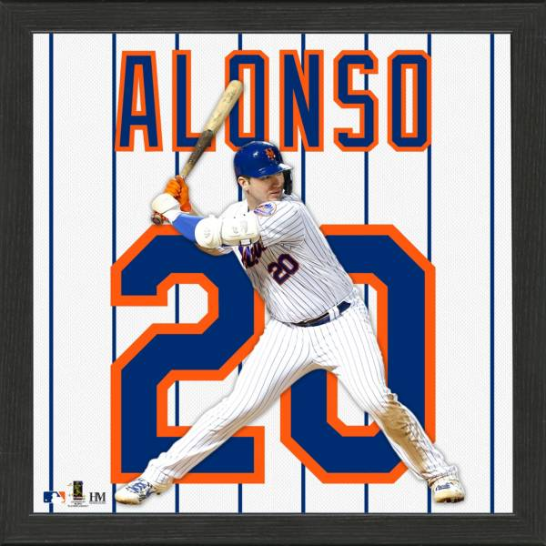 Highland Mint New York Mets Pete Alonso Impact Jersey Framed Photo product image