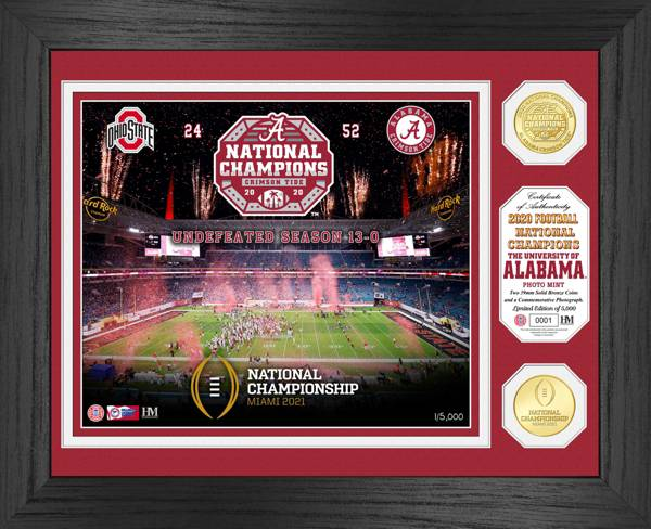 Highland Mint 2020 National Champions Alabama Crimson Tide Celebration Bronze Coin Photo Mint product image