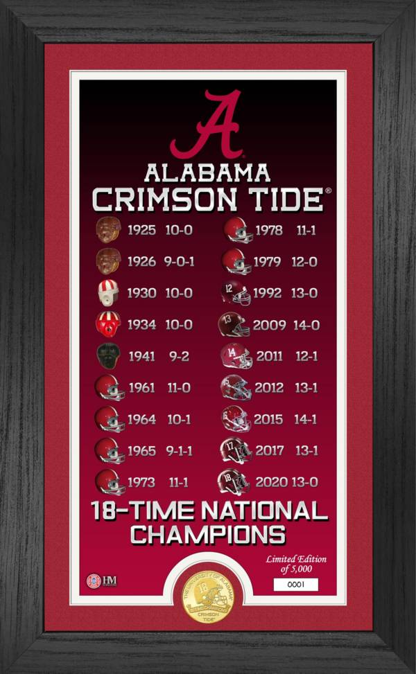 Highland Mint 2020 National Champions Alabama Crimson Tide Legacy Bronze Coin Photo Mint product image