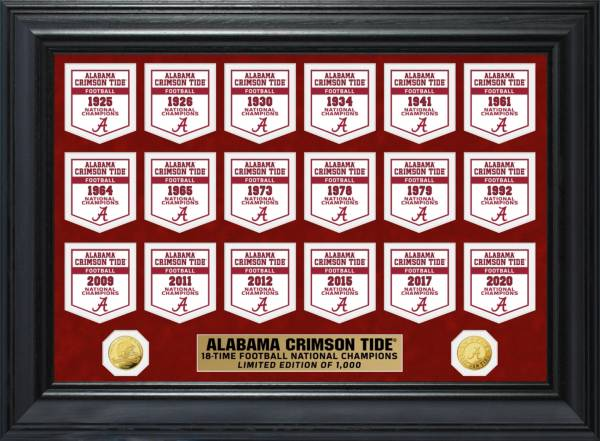 Highland Mint 2020 National Champions Alabama Crimson Tide Gold Coin Deluxe Banner Collection product image