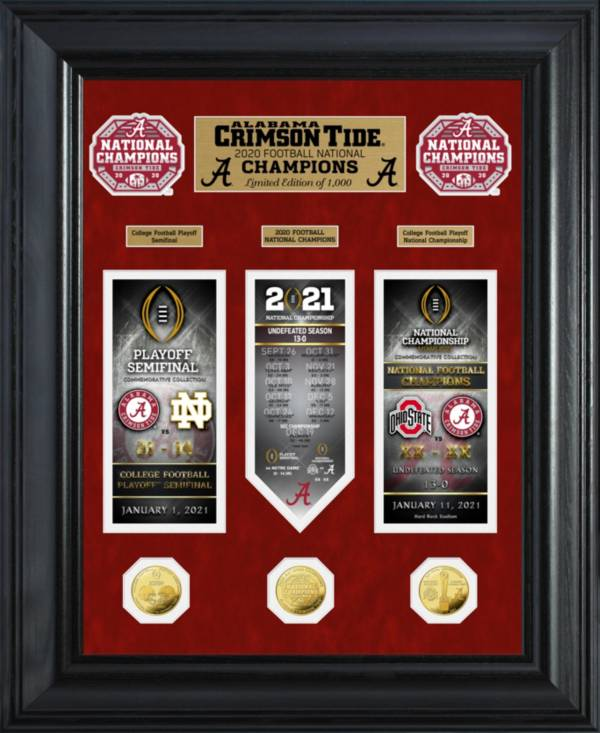 Highland Mint 2020 National Champions Alabama Crimson Tide Deluxe Gold Coin 'Road to the Championship' Photo Mint product image