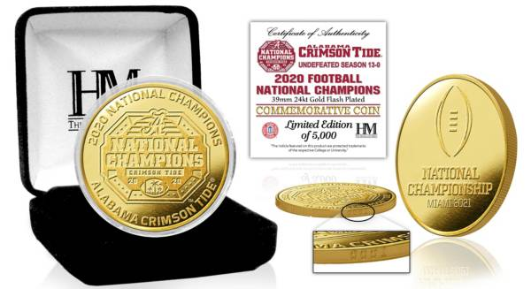 Highland Mint 2020 National Champions Alabama Crimson Tide Minted Gold Coin product image