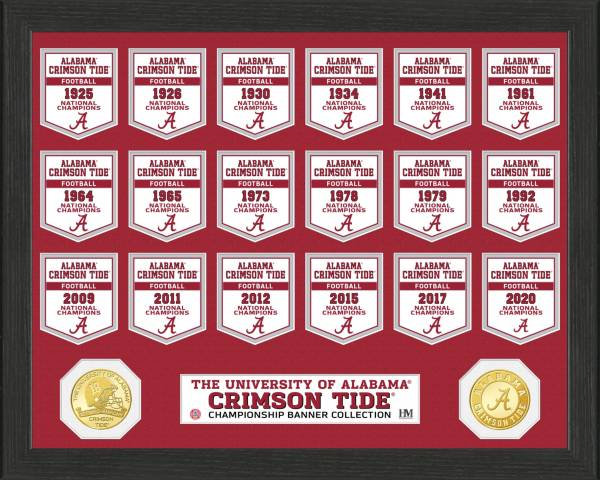 Highland Mint 2020 National Champions Alabama Crimson Tide Bronze Coin Banner Collection product image