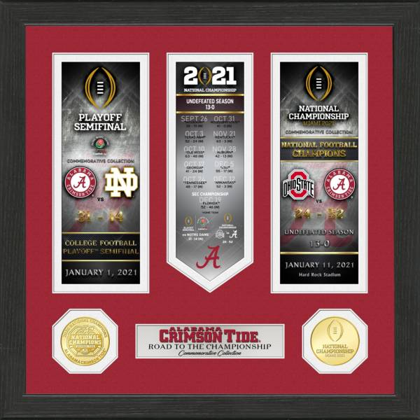 Highland Mint 2020 National Champions Alabama Crimson Tide 'Road to the Championship' Photo Mint product image