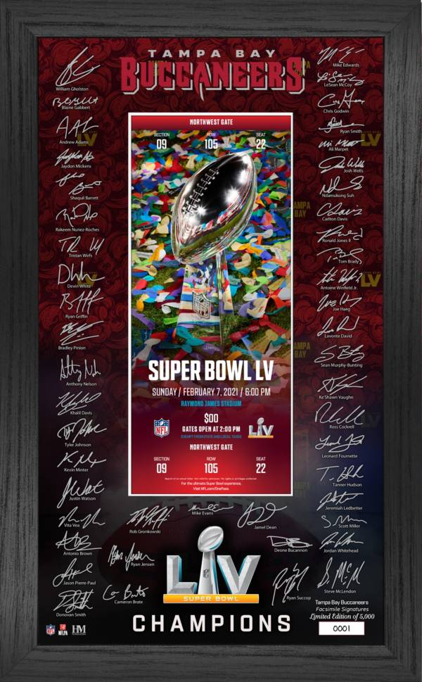 Highland Mint Super Bowl LV Champions Tampa Bay Buccaneers Ticket Photo Frame product image