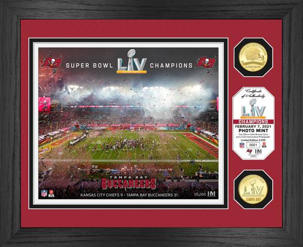 Highland Mint Super Bowl LV Champions Tampa Bay Buccaneers Bronze Coin Photo Mint product image