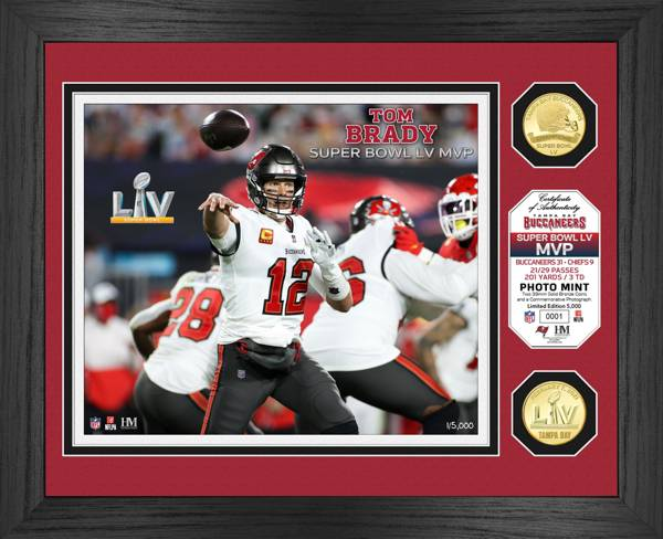 Highland Mint Super Bowl LV Champions Tampa Bay Buccaneers Tom Brady MVP Coin Photo Mint product image