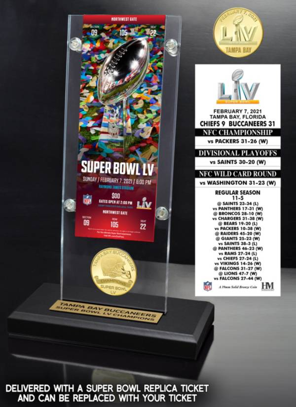 Highland Mint Super Bowl LV Champions Tampa Bay Buccaneers Acrylic Sign product image
