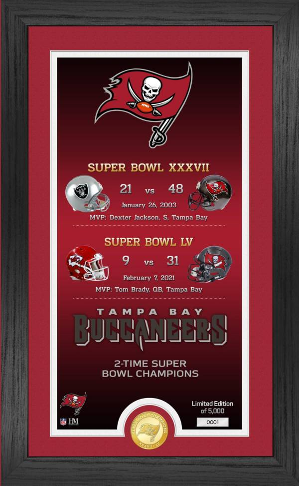 Highland Mint Super Bowl LV Champions Tampa Bay Buccaneers Legacy Bronze Coin Photo Mint product image