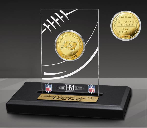 Highland Mint Super Bowl LV Champions Tampa Bay Buccaneers Multi-Champs Acrylic Sign product image