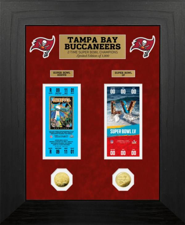 Highland Mint Super Bowl LV Champions Tampa Bay Buccaneers Multi-Champs Ticket and Coin Collection product image