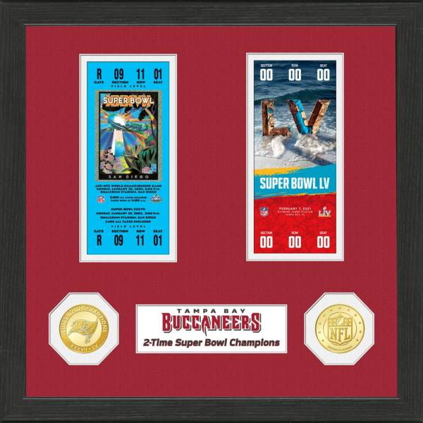 Highland Mint Super Bowl LV Champions Tampa Bay Buccaneers 2X Champions Ticket and Coin Collection product image