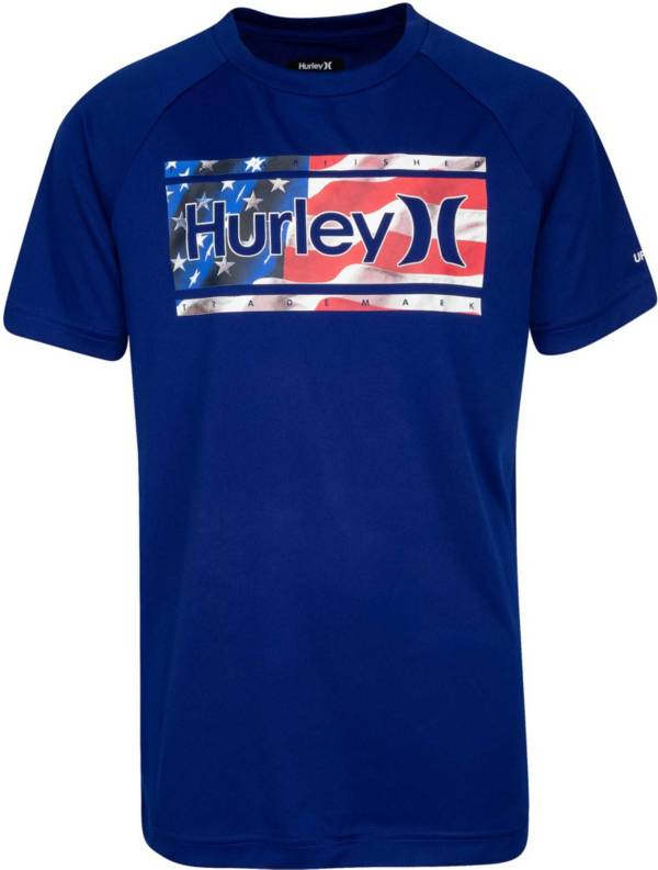 Hurley Boys' Americana UPF Short Sleeve Rashguard product image