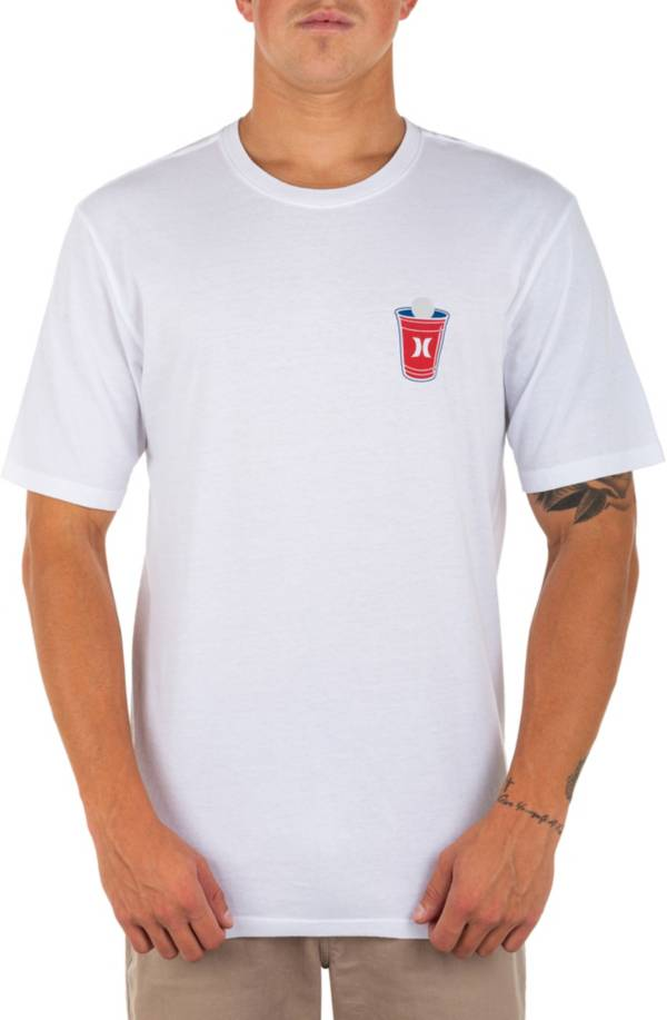 Hurley Men's Washed Red White and Brew Short Sleeve Shirt product image