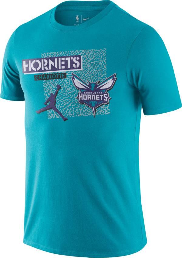 Jordan Men's Charlotte Hornets Blue Dri-Fit T-Shirt product image