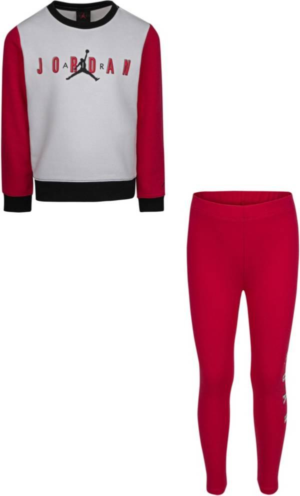 Jordan Girls' Jumpman Air Colorblock Sweatshirt and Leggings Set product image