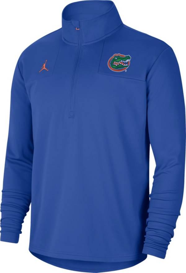 Jordan Men's Florida Gators Blue Team Issue Coaches Half-Zip product image