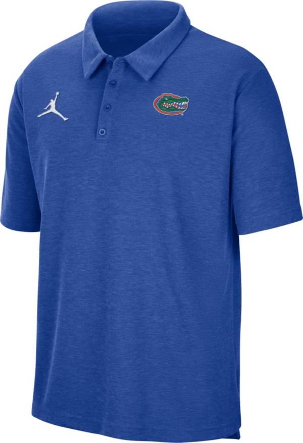 Jordan Men's Florida Gators Blue Football Team Issue Polo product image