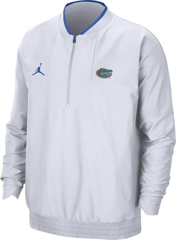 Jordan Men's Florida Gators Football Sideline Coach Lightweight White Jacket product image