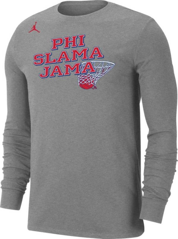 Jordan Men's Houston Cougars Grey 'Phi Slama Jama' Long Sleeve Basketball T-Shirt product image