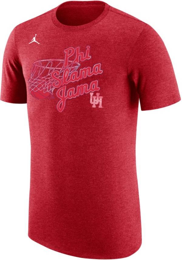 Jordan Men's Houston Cougars Red 'Phi Slama Jama' Basketball T-Shirt product image