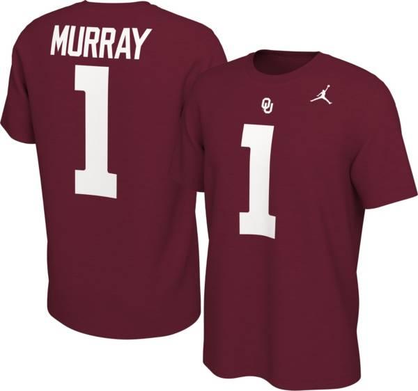 Jordan Men's Oklahoma Sooners Kyler Murray #1 Crimson Football Jersey T-Shirt product image