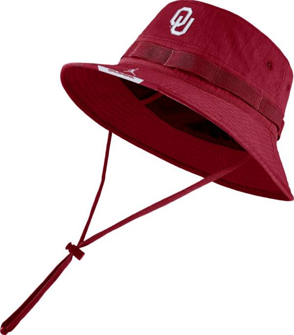 Jordan Men's Oklahoma Sooners Crimson Dri-FIT Football Sideline Bucket Hat product image